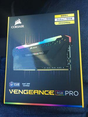 16GB (8GBx2) CORSAIR VENGEANCE RGB PRO RAM for Sale in Roseville, CA
