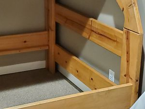 Twin over Full Oak Bunkbed for Sale in Evesham Township, NJ