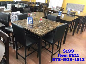 Dining table with chairs brand new 📦 (( fast delivery available))📦🚚 for Sale in Dallas, TX