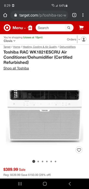 Toshiba window air conditioner for Sale in Fresno, CA