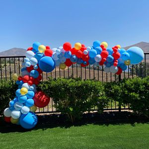 BAlloon arch, garland, wall, porch, party decor for Sale in San Diego, CA