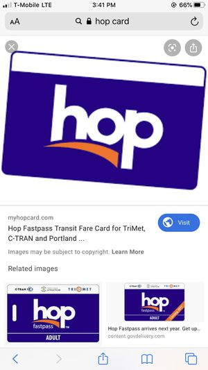 Fully Loaded Hop Card for Sale in Beaverton, OR