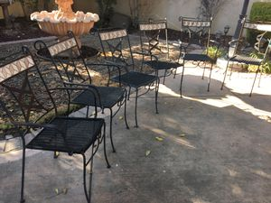 6 Classic Iron Chairs all for $40 for Sale in Pasadena, CA