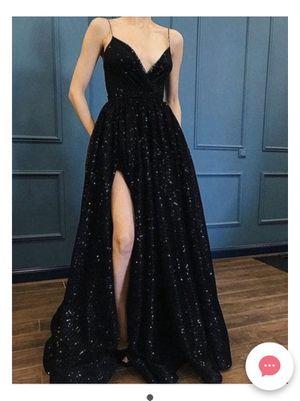 Black Sequin Sparkle A line Slit Prom Dress for Sale in Surprise, AZ