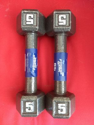 5 Pound Hex Dumbbells for Sale in Yucaipa, CA