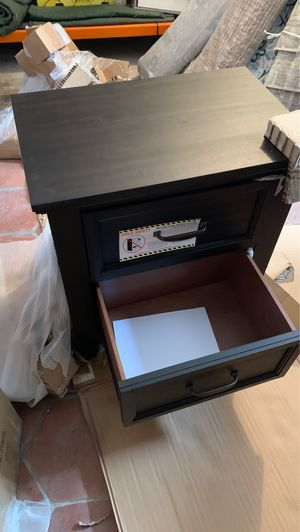 Night stand $199 at Costco table with usb and plugs for ur phone for Sale in Ontario, CA