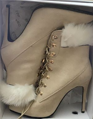 EGO Booties // Heels Furry Cream Colored 8.0 Shoes for Sale in Concord, CA