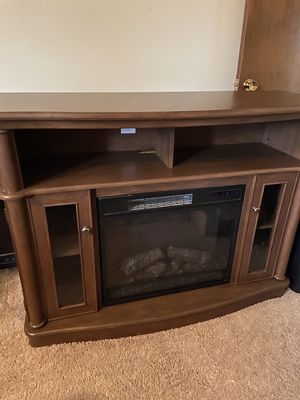 Home Depot home decorators collection (Tolleson) Electric Fireplace/ TV stand (TV not included) for Sale in Gresham, OR