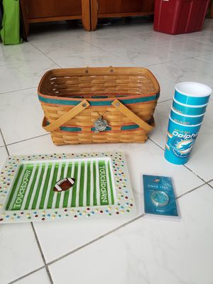 Longaberger NFL collectors edition basket and extras for Sale in Hollywood, FL