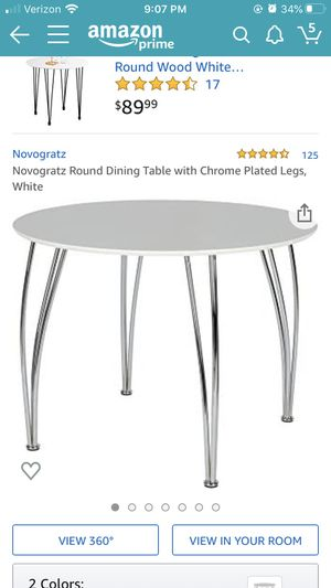 White table and 2 white chairs for Sale in Washington, DC