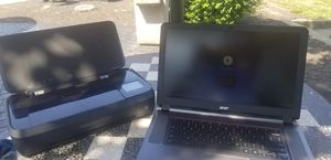 Acer laptop and Hp officejet 250 for Sale in Baltimore, MD