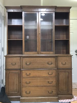 Solid wood antique, vintage china cabinet hutch for Sale in Washington, DC