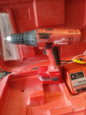 14.4V. Milwaukee Drill. 2 batteries 1 Charger for Sale in West Chicago, IL