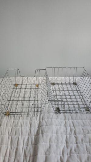 Wire basket desk organizers for Sale in San Diego, CA