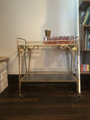 VINTAGE GOLD BAR CART for Sale in Washington, DC