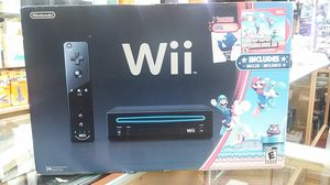 NINTENDO WII BLACK CONSOLE WITH NEW SUPER MARIO BROTHERS WII AND MUSIC CD FOR SALE TODAY!!!!! for Sale in Miami Beach, FL
