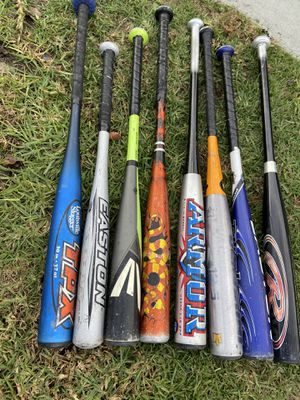 Aluminum baseball bats 25 inches to 30 inches for Sale in La Palma, CA