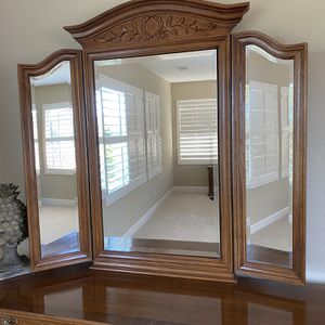 Large Folding Mirror Hidden Jewelry Cabinet for Bedroom Closet for Sale in San Diego, CA