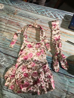 Brand new girls 2pc ruffled romper hair head band wrap outfit photo prop costume dress up size 6-9m 9-12m 12 months for Sale in Freemansburg, PA