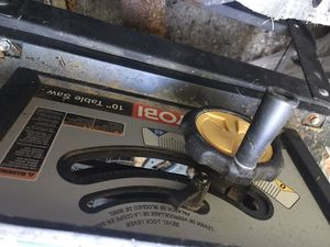 """Ryobi 10"""" table saw w/steel stand for Sale in Maywood Park, OR"""