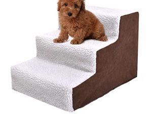 New 3 Steps Pet Dog Cat Stairs Ramp Portable Easy Way Ladder for Sale in Whittier,  CA