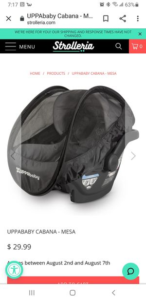 Uppababy cabana car seat cover for Sale in Lecanto, FL