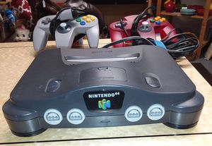 Nintendo 64 Console with 2 Controllers, AV Cord and Power Cord TESTED WORKS GREAT for Sale in Fall City, WA
