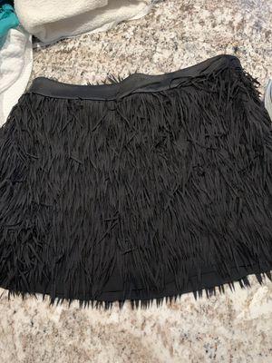 Fringed black skirt for Sale in Malden, MA
