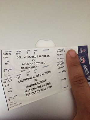 Blue Jackets vs Coyotes Oct 22 7pm for Sale in Columbus, OH