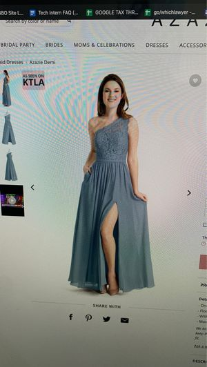 Azazie Dusty Blue Bridesmaid dress for Sale in Gilroy, CA