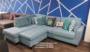 Blue sofa sectional couch for Sale in Downey, CA