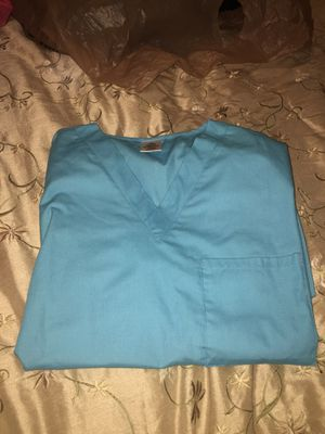 Light blue scrub top & bottom (size SMALL) for Sale in Peoria, AZ