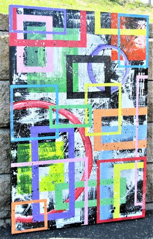 36x24 ORIGINAL SIGNED PAINTING. STRETCHED CANVAS AND READY TO HANG! for Sale in Cincinnati, OH