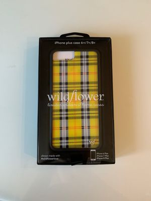 Yellow Plaid Wildflower Phonecase 6+/ 7+/ 8+ for Sale in Flower Mound, TX