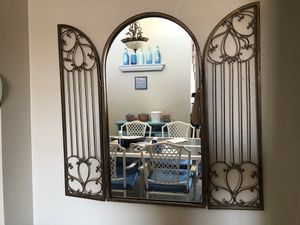 Golden Hanging Wall Mirror with cage for Sale in Gilbert, AZ
