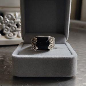 Vintage Mens 925 Sterling Silver Black Onyx Ring Size 11 Signed Southwest for Sale in Denver, CO
