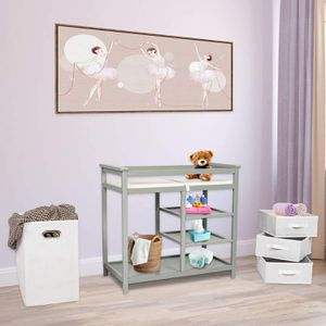Kinbor Baby Changing Table Infant Diaper Station Nursery Organizer with Hamper and 3 Baskets for Sale in Rancho Cucamonga, CA