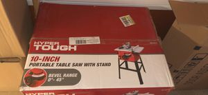 Hyper tough portable table saw with stand for Sale in Nashville, TN