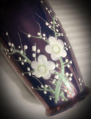 Purple Lusterware Porcelain China Original Vintage Antique Japan/Japanese Bud Vase Luster Ware Hand-Painted Flower/Floral Art/Artisan Piece. Chip, r for Sale in San Diego, CA