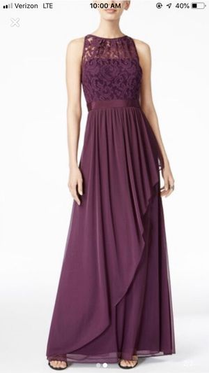 Adrianna Papell deep purple bridesmaid dress size 4 for Sale in Raleigh, NC