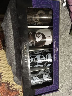 Tim Burton's the Nightmare before Christmas glass set for Sale in Stockton, CA