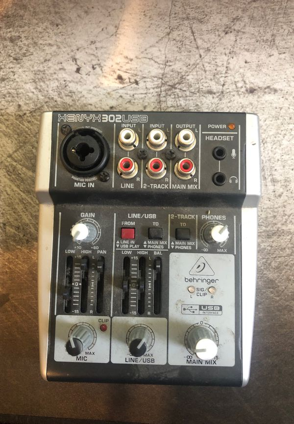 behringer xenyx 302usb mixer for sale in rowland hghts ca offerup. Black Bedroom Furniture Sets. Home Design Ideas