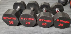 NEW ETHOS Dumbbells (Pair of 20s and 25s) for Sale in Brownsville, TX