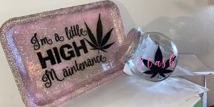 Personalized rolling trays and stash jars for Sale in Hilliard, OH
