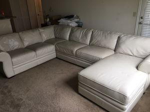 Italian Leather L shape Couch for Sale in Gallatin, TN