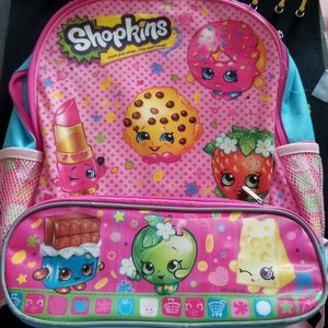 Shopkins kids backpack, pink w two pockets, great for school for Sale in Lakewood, CA