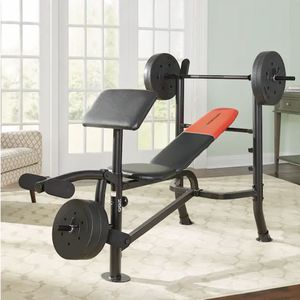 Standard Weight Bench with 80 lb. Vinyl Weight Set and bar Included brand new comes with the box for Sale in Irvine, CA