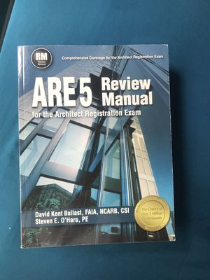 ARE 5 Review Manual for the Architect Registration Exam for Sale in Lauderhill, FL
