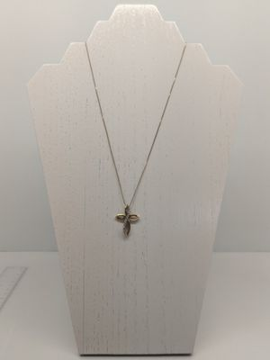 Gold Tone Sterling Cross Necklace for Sale in Longview, TX