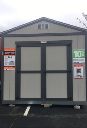 Tall Garden shed, Nat'l Big Box brand, 5 year warranty and free delivery for Sale in Lilburn, GA